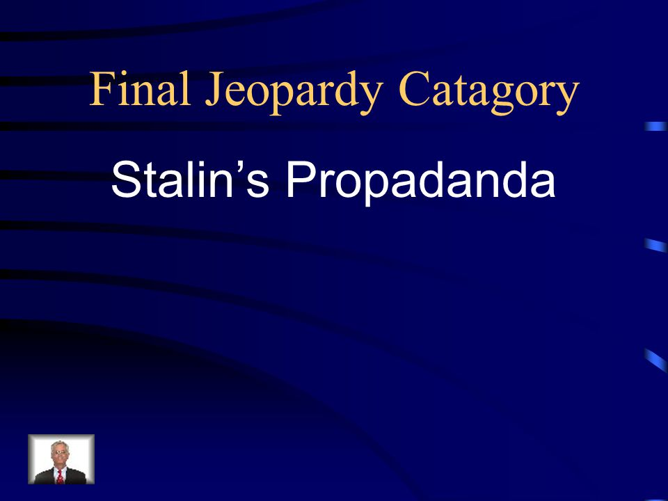Final Jeopardy Catagory