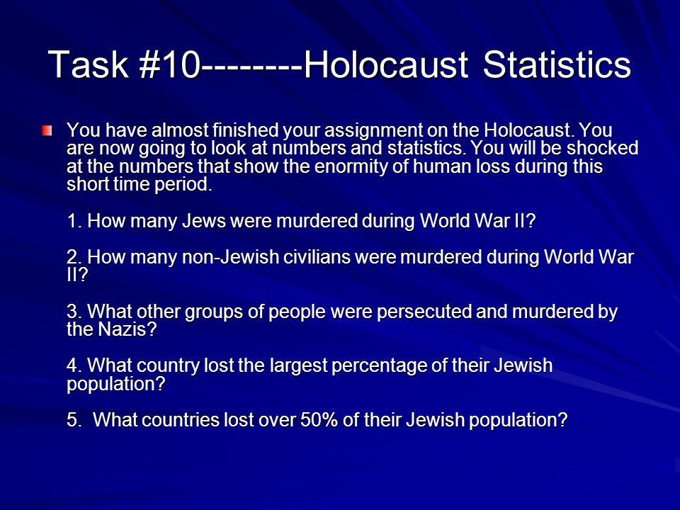 Task #10--------Holocaust Statistics