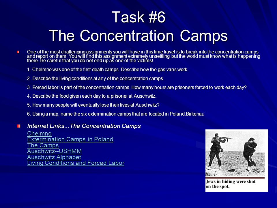 Task #6 The Concentration Camps