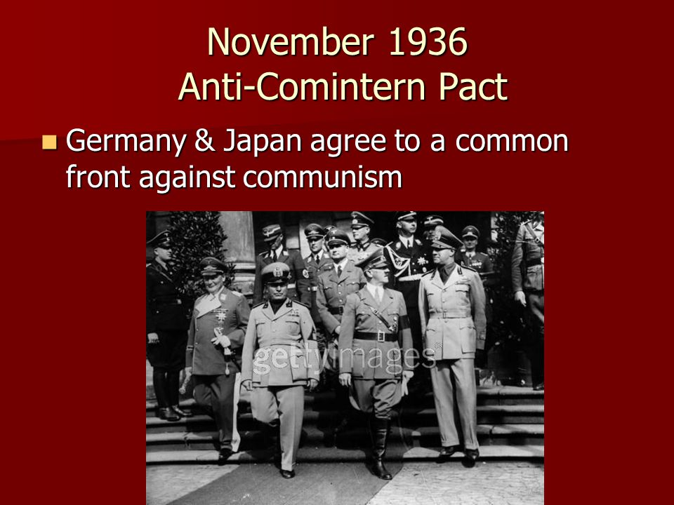 November 1936 Anti-Comintern Pact