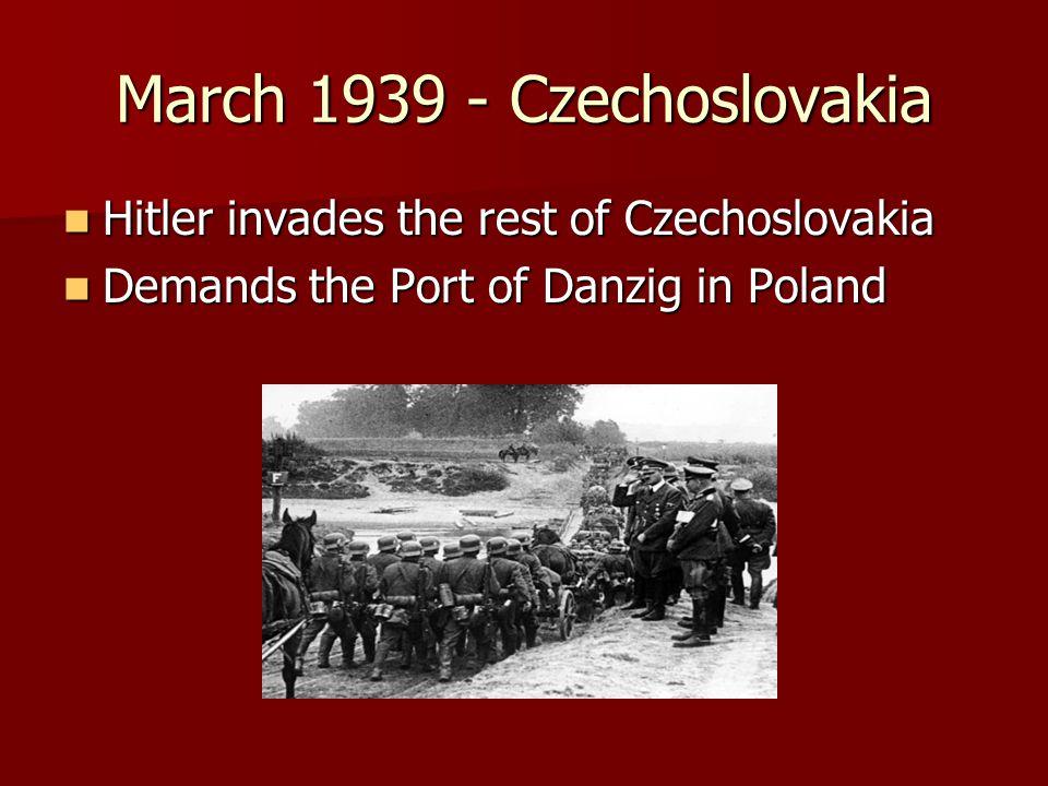 March 1939 - Czechoslovakia