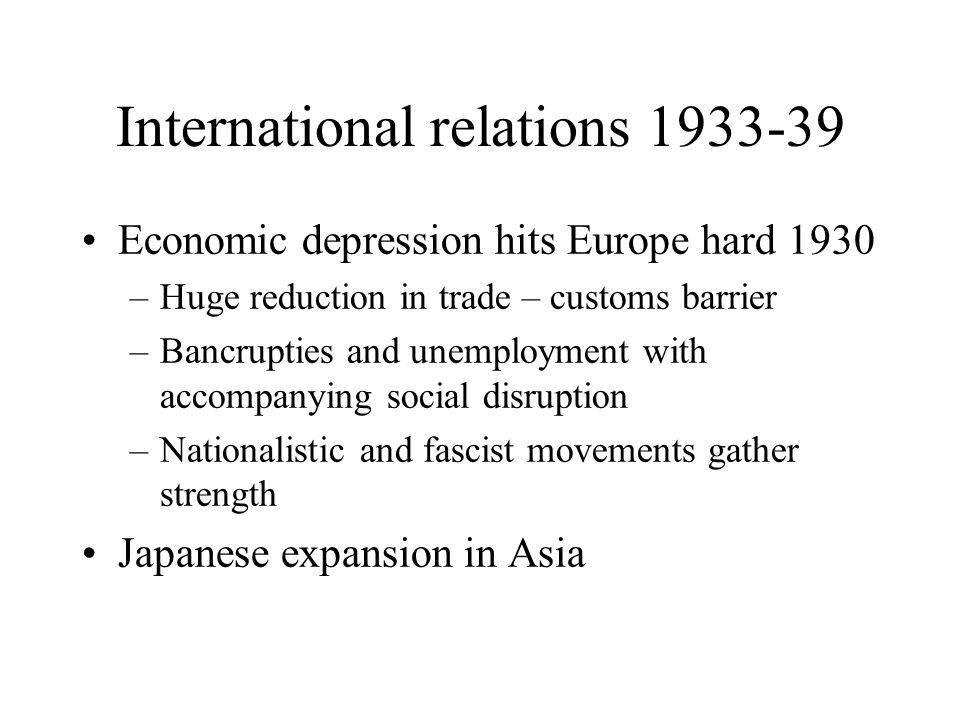 International relations 1933-39