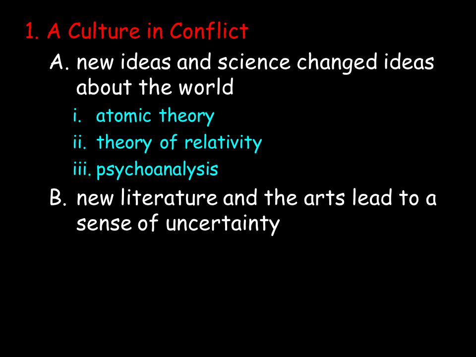 new ideas and science changed ideas about the world