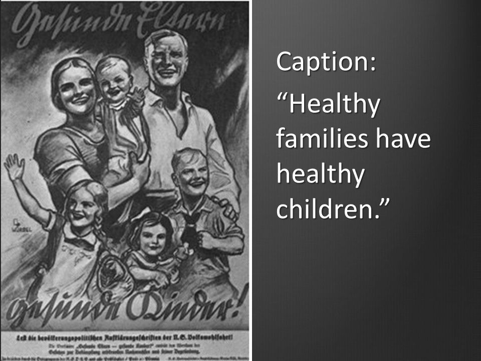 Caption: Healthy families have healthy children.