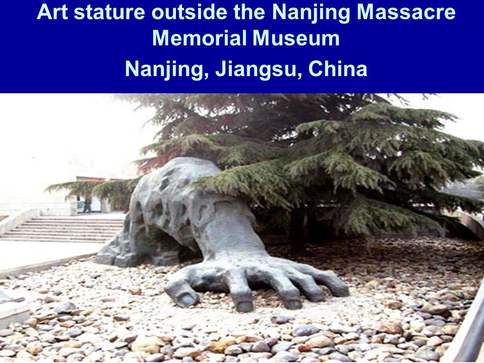 Art stature outside the Nanjing Massacre Memorial Museum Nanjing, Jiangsu, China