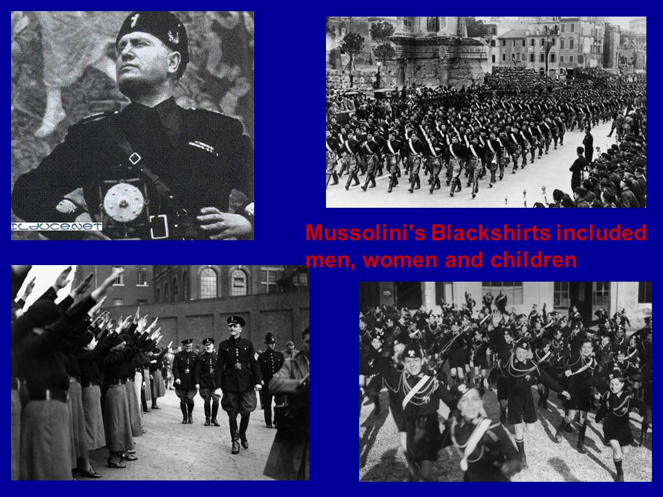 Mussolini s Blackshirts included men, women and children