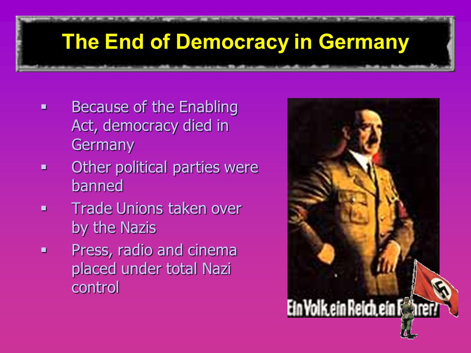 The End of Democracy in Germany