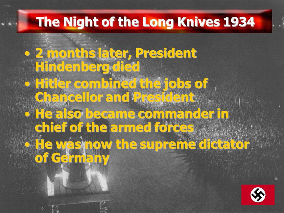 The Night of the Long Knives 1934