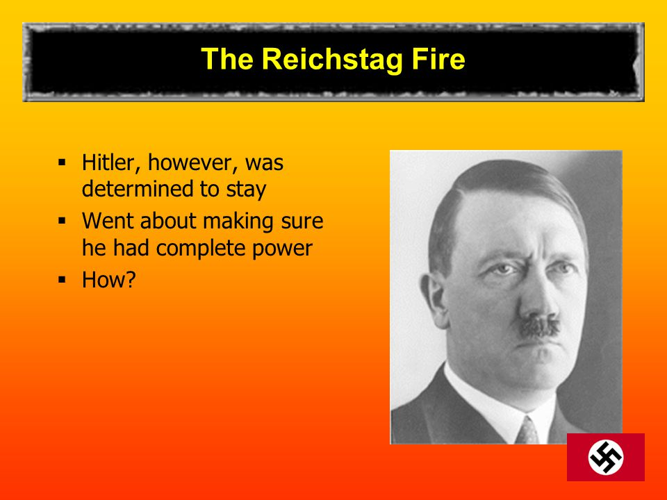 The Reichstag Fire Hitler, however, was determined to stay