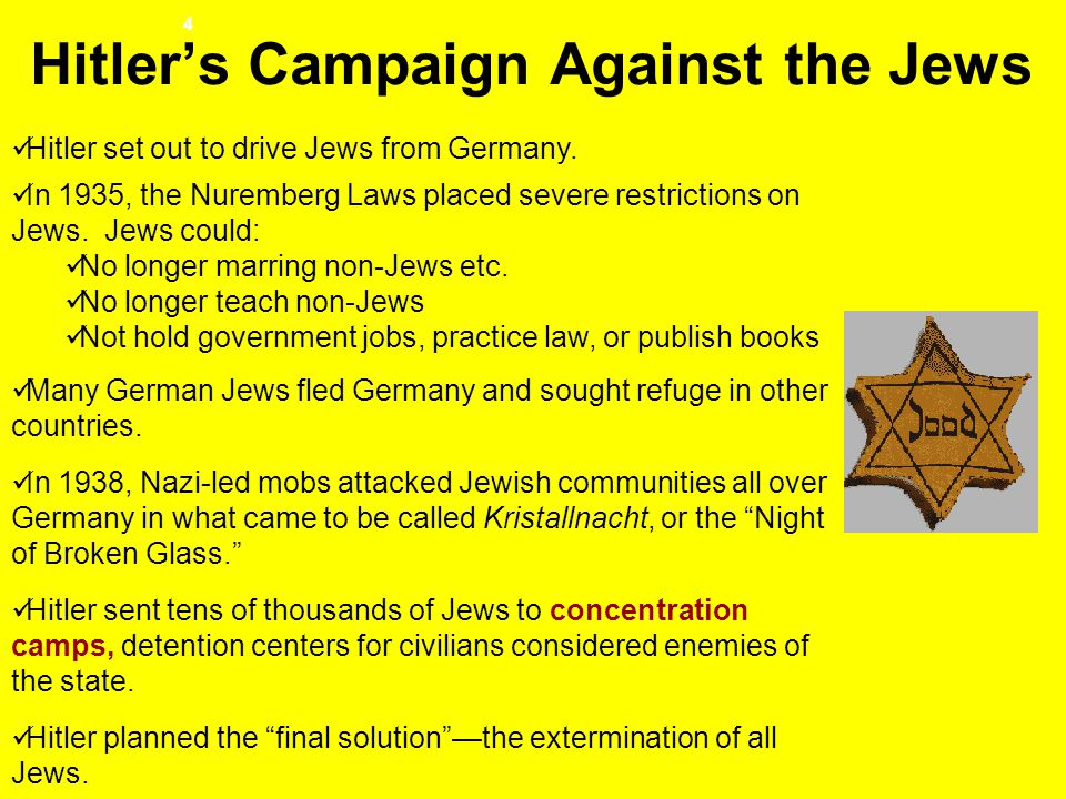 Hitler's Campaign Against the Jews