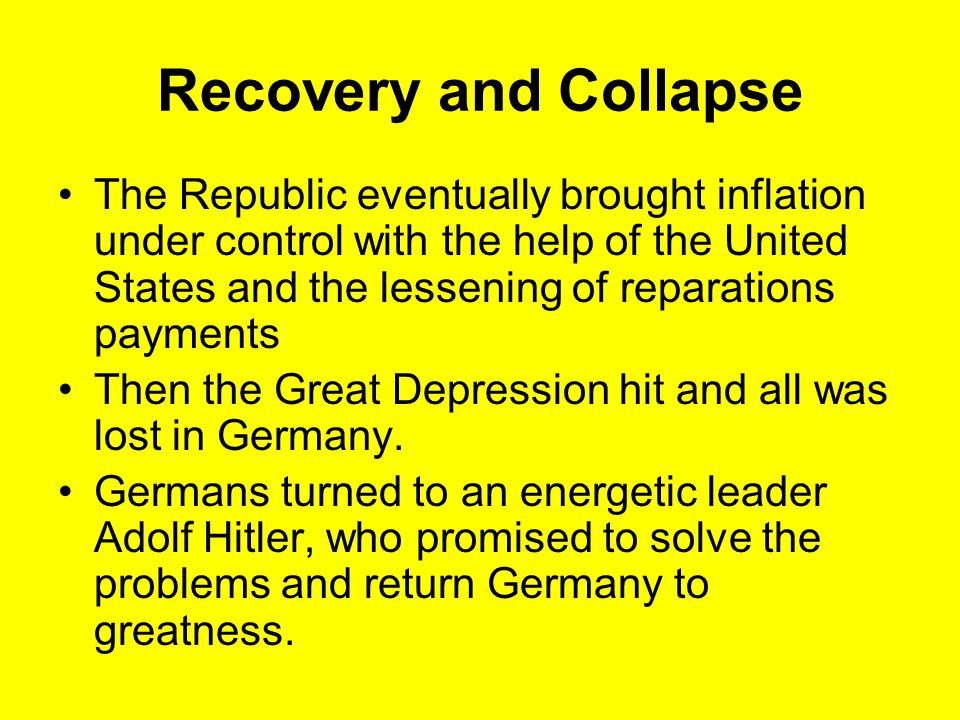Recovery and Collapse
