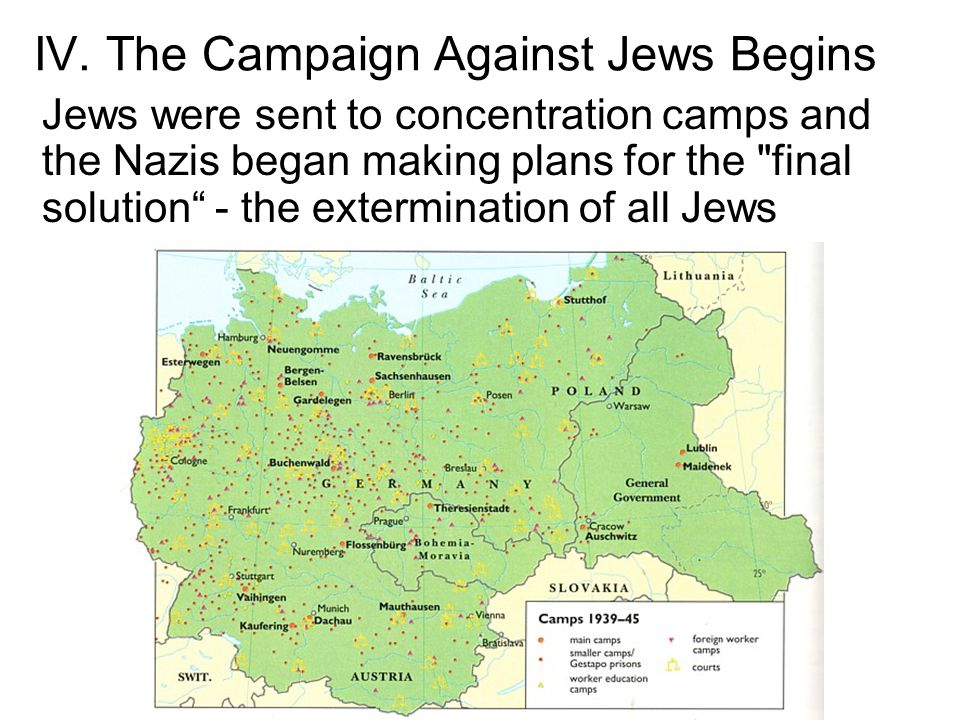 IV. The Campaign Against Jews Begins