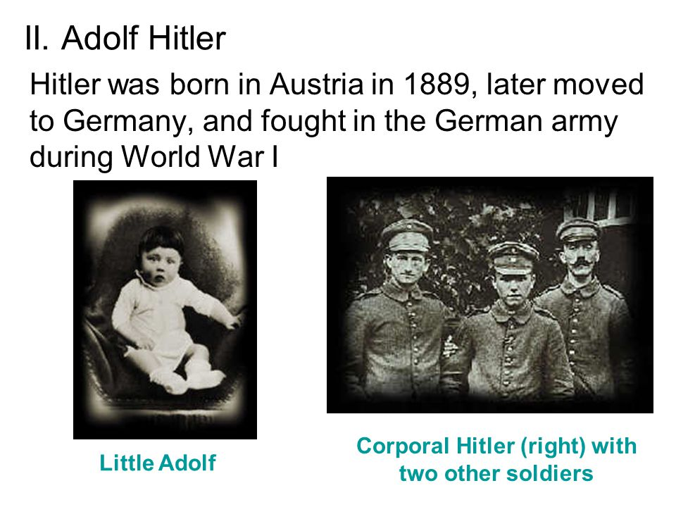 an overview of the adolf hitlers german military in the world war two Adolf hitler was appointed chancellor of germany in 1933 following a series of  electoral victories by the nazi party learn more about his rise to power.