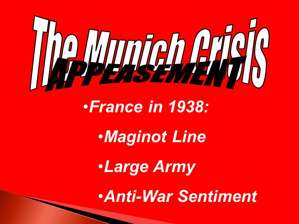 France in 1938: Maginot Line Large Army Anti-War Sentiment