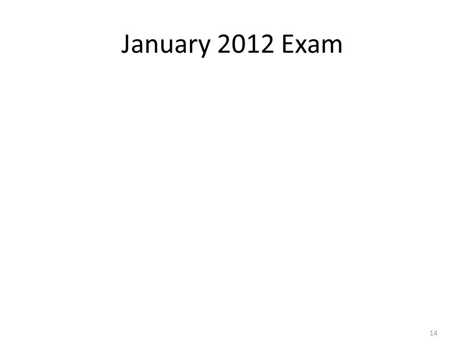 January 2012 Exam