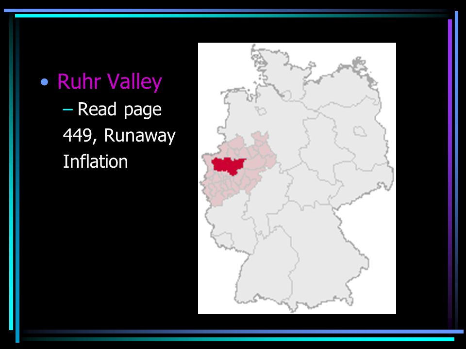 Ruhr Valley Read page 449, Runaway Inflation