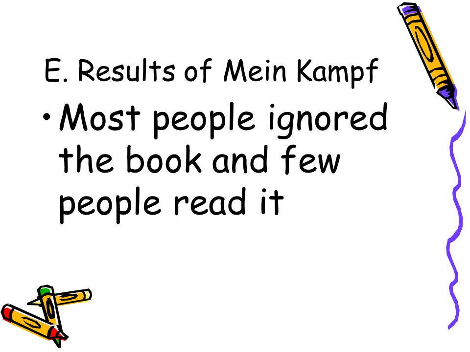 Most people ignored the book and few people read it