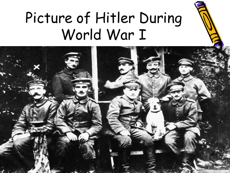 Picture of Hitler During World War I