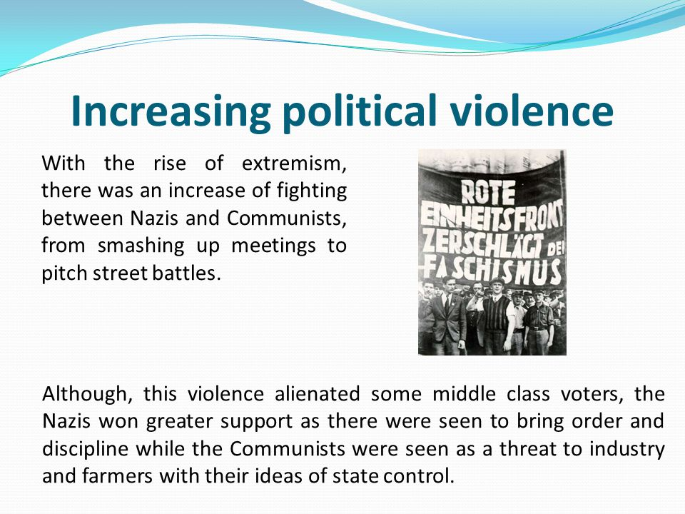 Increasing political violence