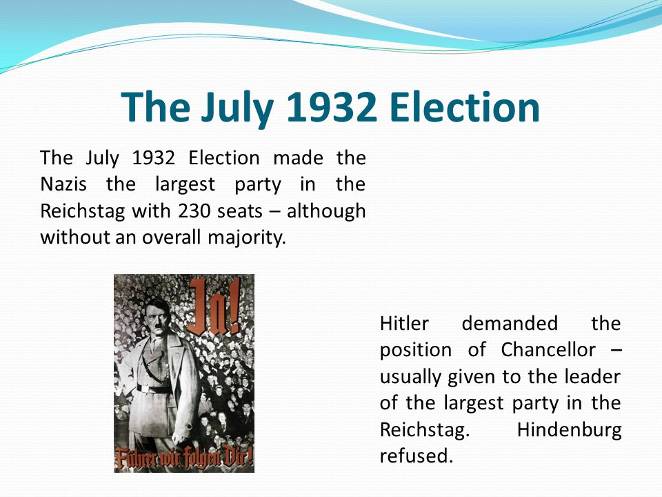 The July 1932 Election