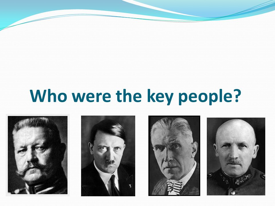 Who were the key people