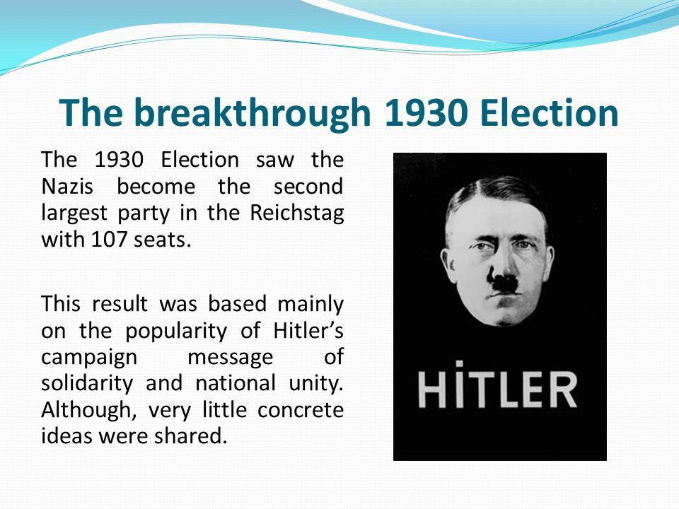 The breakthrough 1930 Election