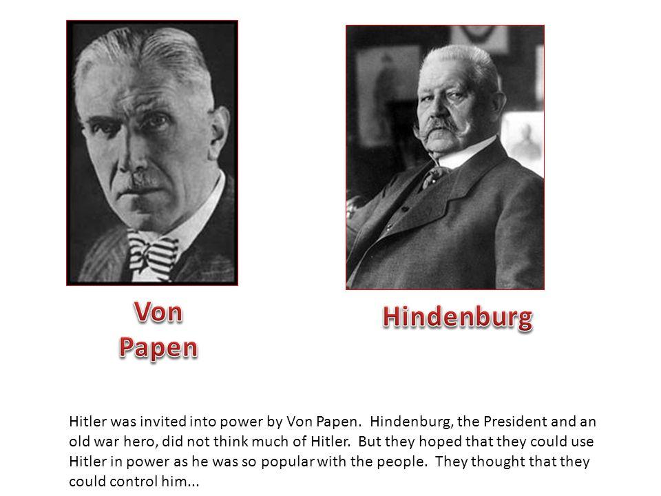 Von Papen Hindenburg.