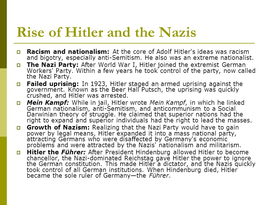 Rise of Hitler and the Nazis