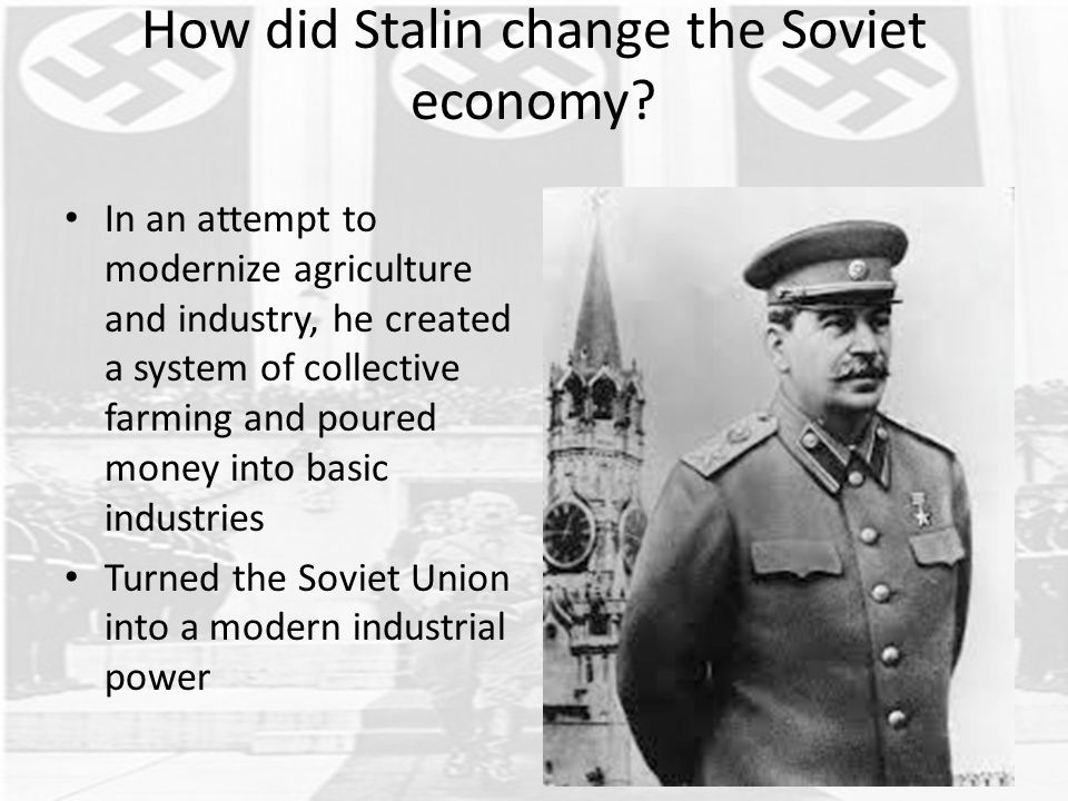 stalin modernising the ussr Compare and contrast nazi germany with the soviet union under stalin's rule there were some similarities and differences in the ways that hitler contr.