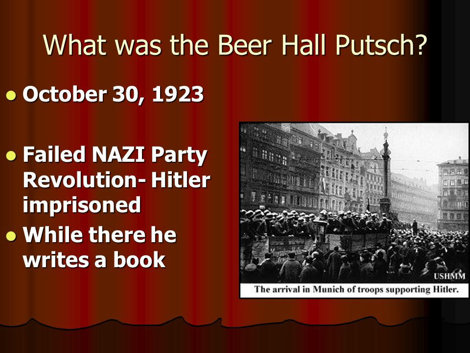 What was the Beer Hall Putsch