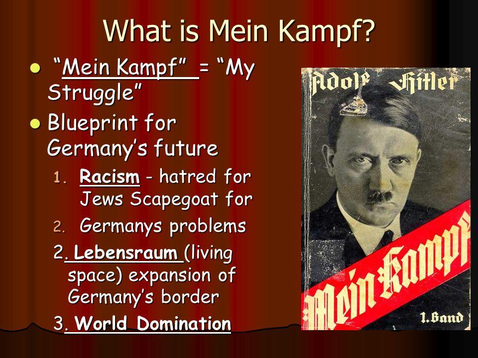 What is Mein Kampf Mein Kampf = My Struggle