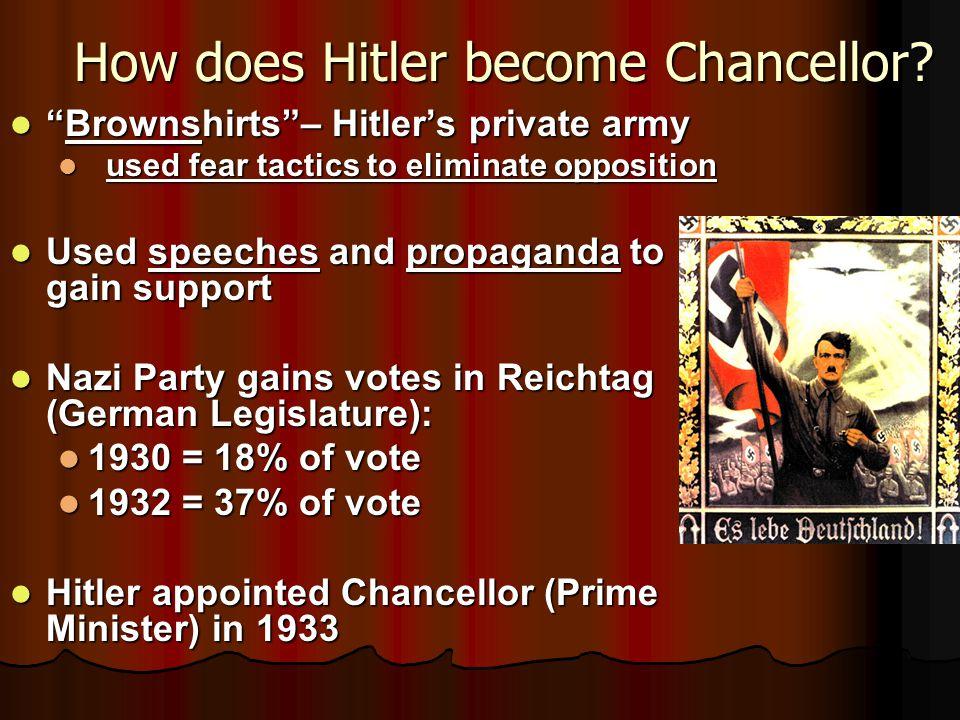How does Hitler become Chancellor