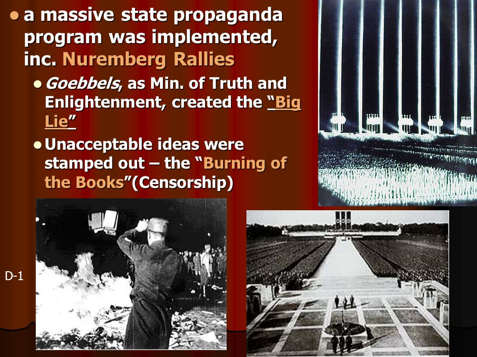 a massive state propaganda program was implemented, inc