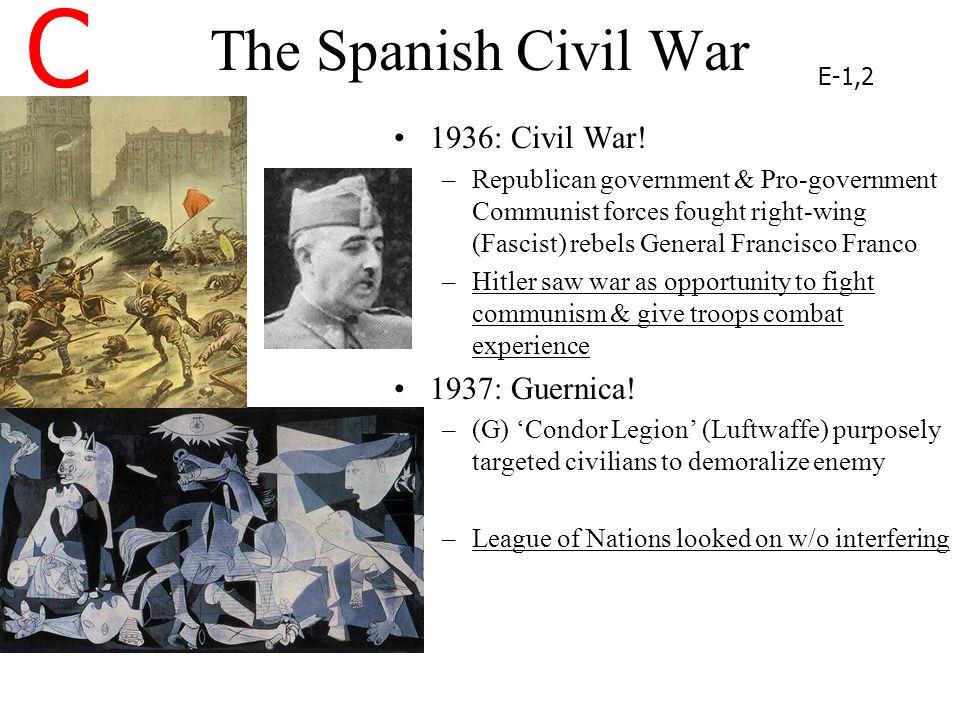C The Spanish Civil War 1936: Civil War! 1937: Guernica!