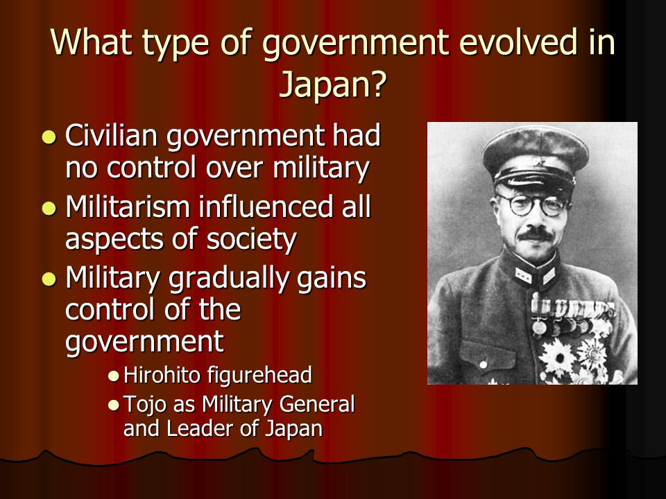 What type of government evolved in Japan