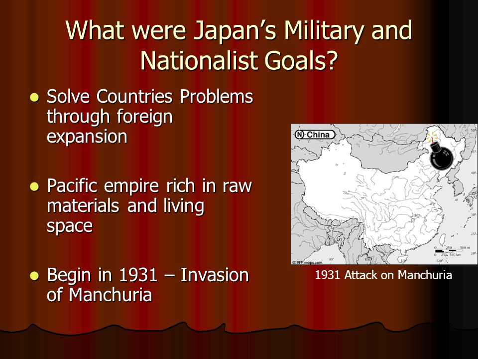 What were Japan's Military and Nationalist Goals