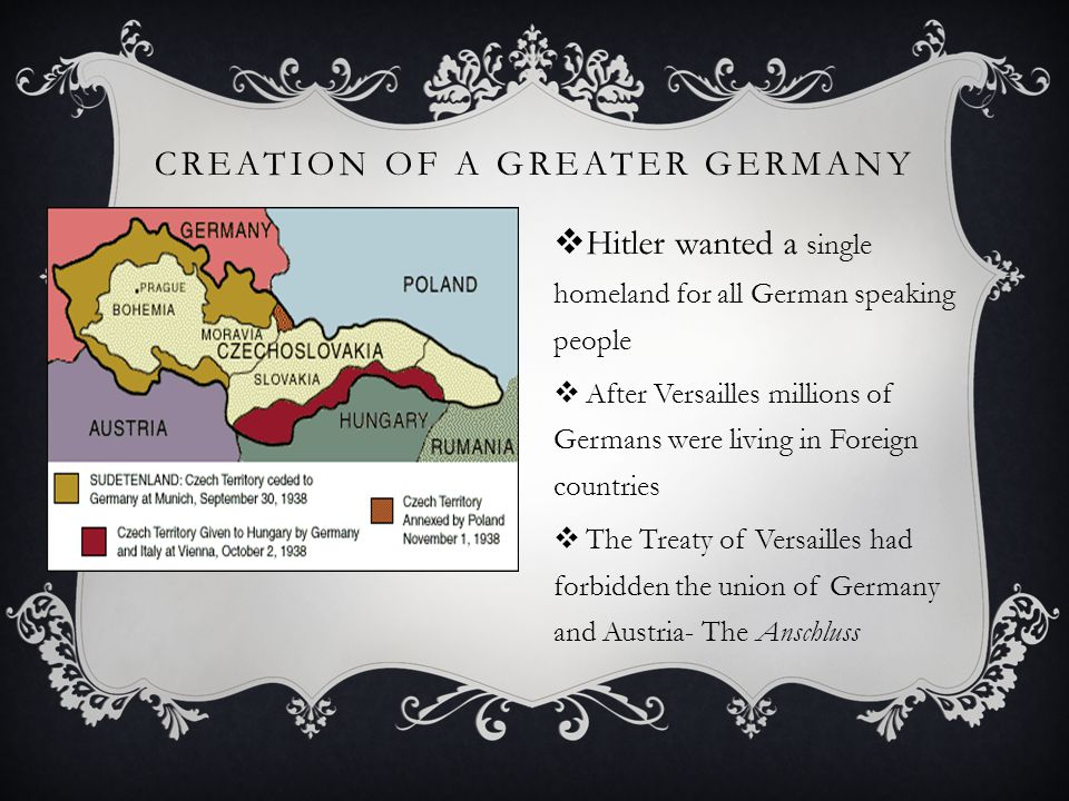 Creation of a Greater Germany