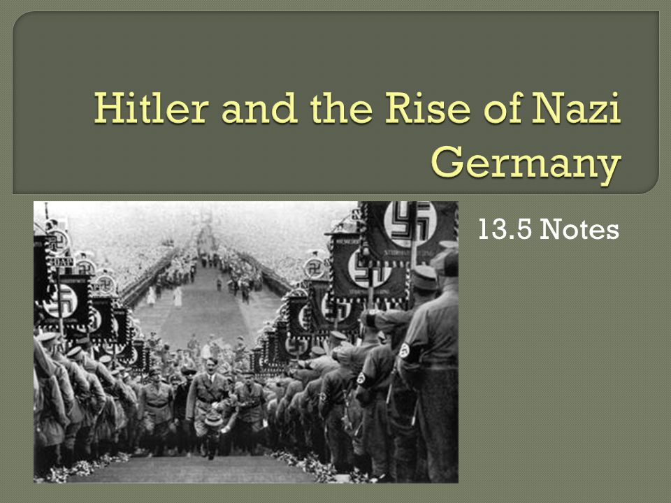 an examination of hitler and the nazi regimes rise to power in germany Hitler helped create the nazi party  has no citizenship is to be able to live in germany only as a guest,  hitler comes to power.