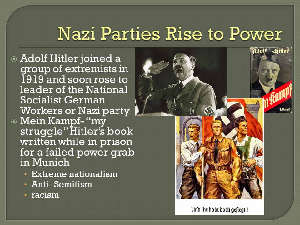 the rise of hitlers nazi party to power