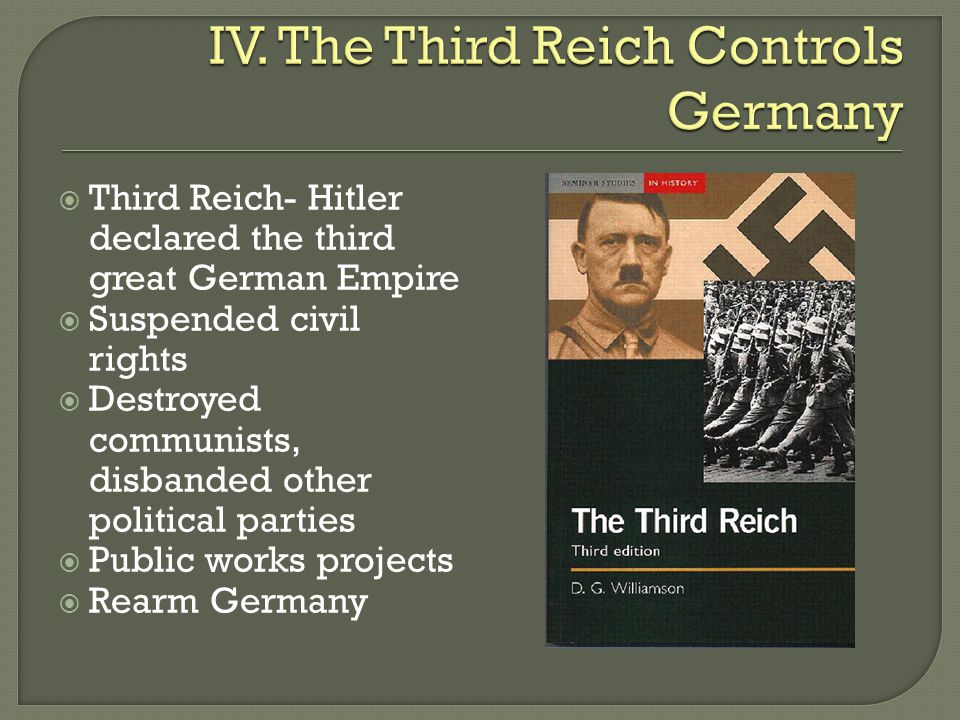 IV. The Third Reich Controls Germany