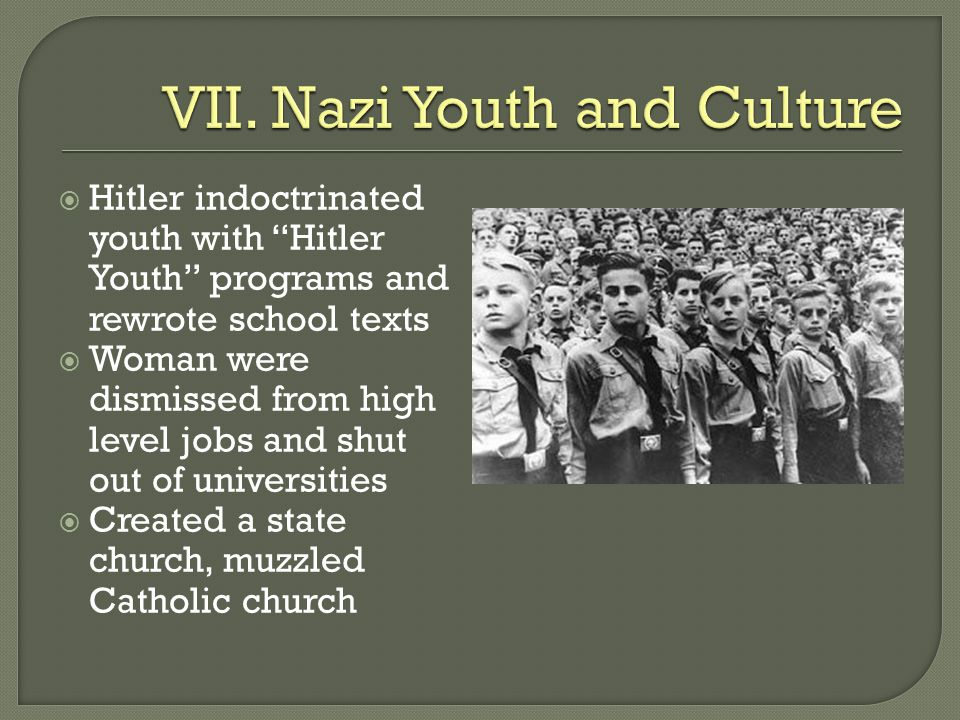 VII. Nazi Youth and Culture