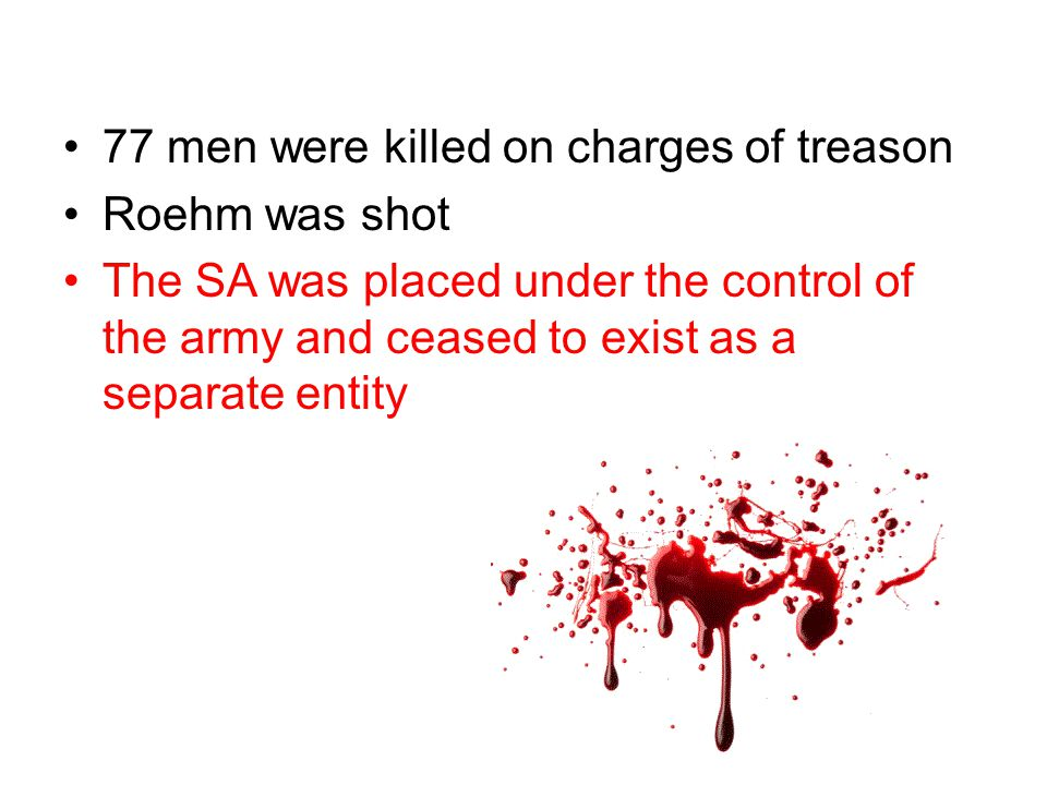 77 men were killed on charges of treason