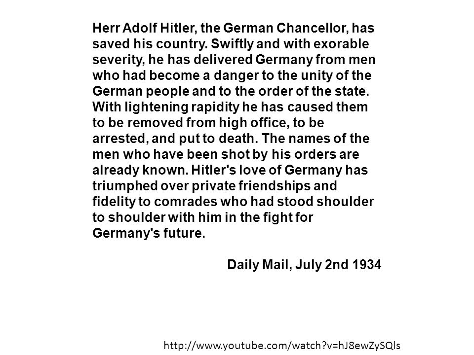 Herr Adolf Hitler, the German Chancellor, has saved his country
