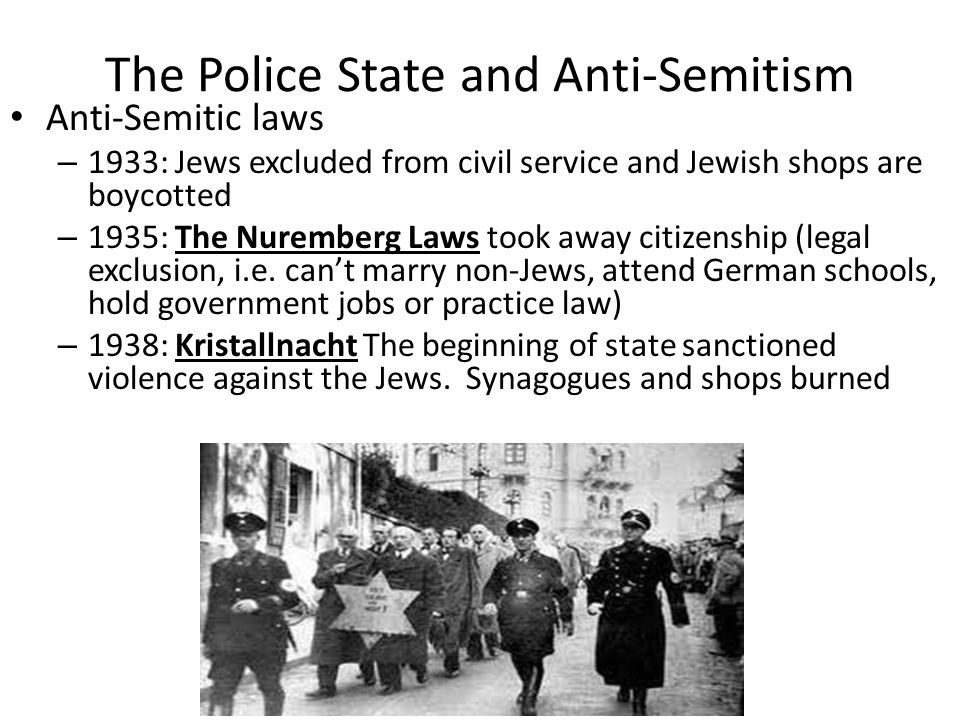 The Police State and Anti-Semitism
