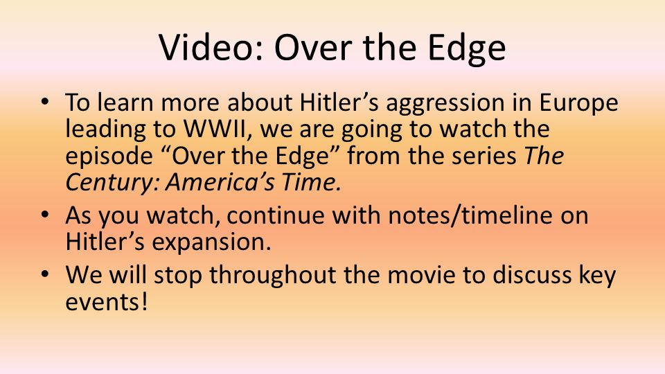 Video: Over the Edge