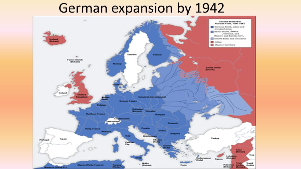 German expansion by 1942
