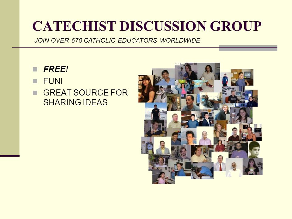 CATECHIST DISCUSSION GROUP