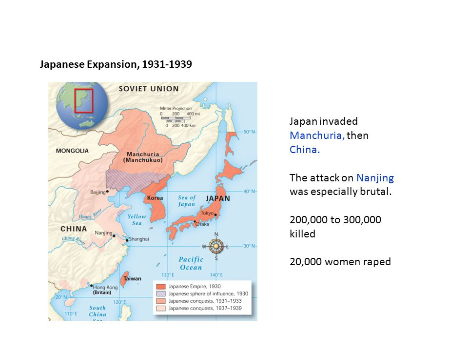 Japan invaded Manchuria, then China.