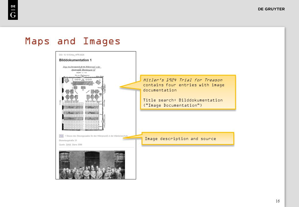 Maps and Images Hitler s 1924 Trial for Treason contains four entries with image documentation.