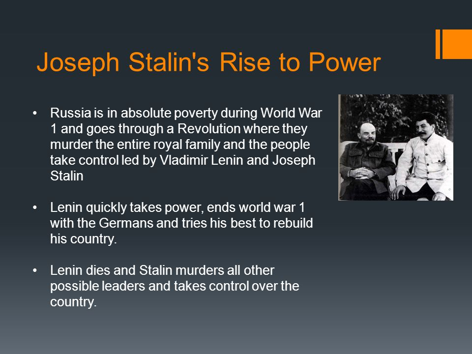 Joseph Stalin s Rise to Power